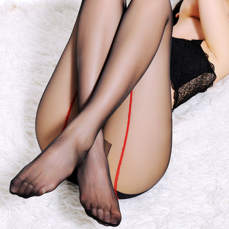 Sexy Bust Women Pantyhose New Stockings T crotch transparent thin line design Lady Lingerie Tights