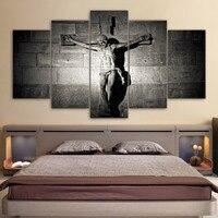 Холст картины Гостиная домашний Декор 5 шт. Иисус Христос Картины модульная печатных вечеря постеры на стену, картины рамки
