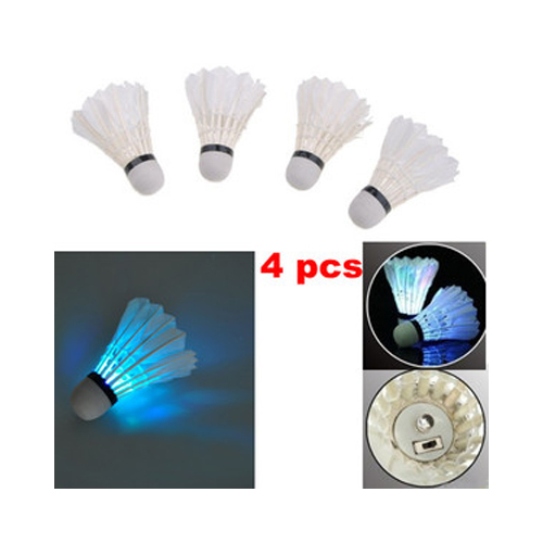 Hot Sale 4 Pcs Colorful LED Badminton Shuttlecock Bright In Night Outdoor Entertainment Sport Accessories In Night