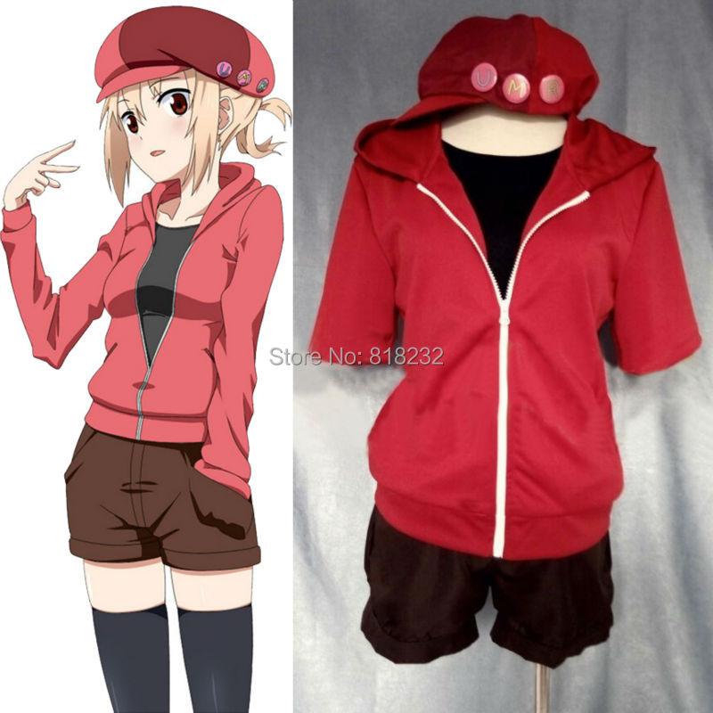 Himouto! Umaru-chan Doma Umaru School Uniform Cosplay Costumes Coat+Pants+Tops