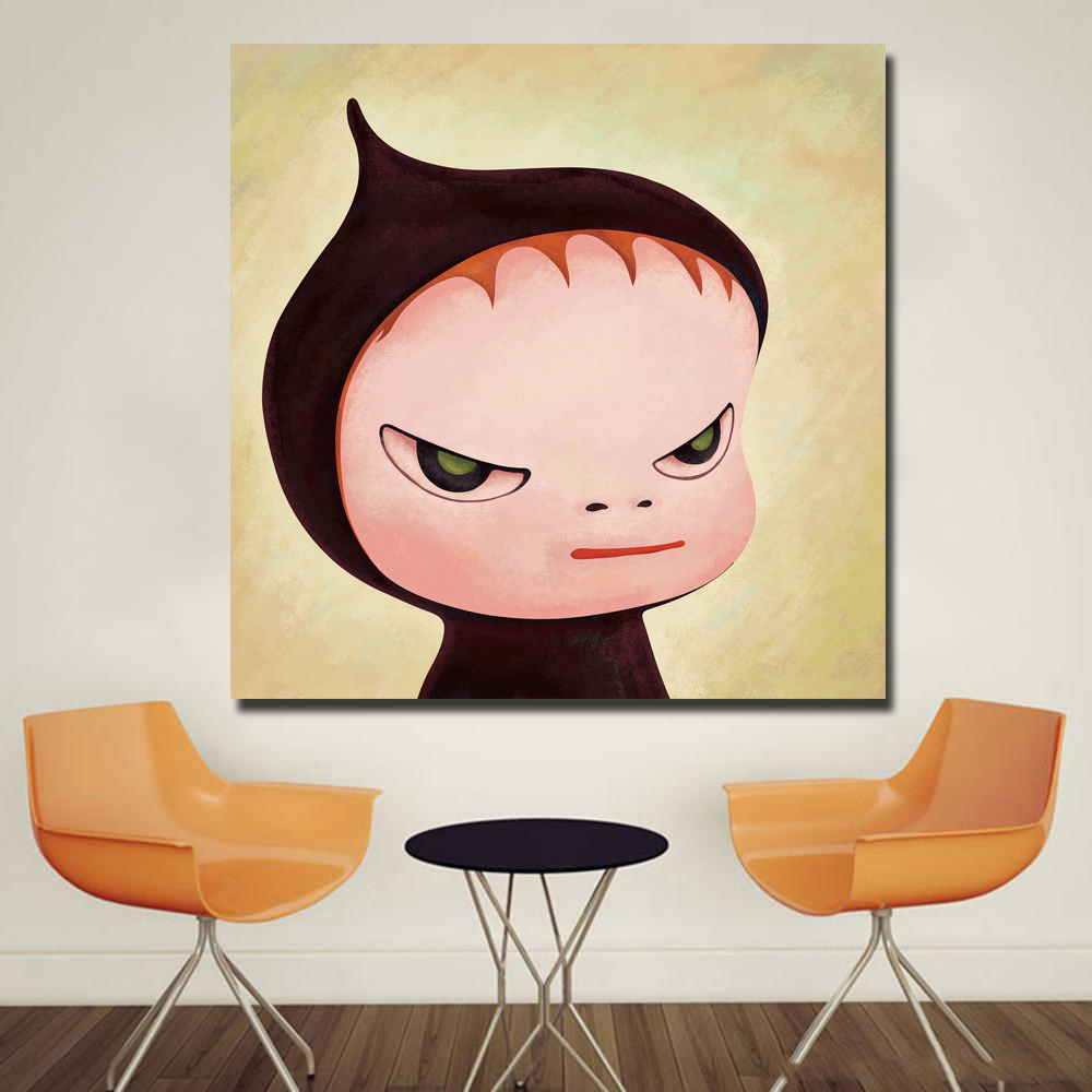 Cartoon Painting Yoshitomo Nara Sleepwalking Dolls Canvas Art Painting Print Poster Picture Wall Art For Baby Room Home Decor