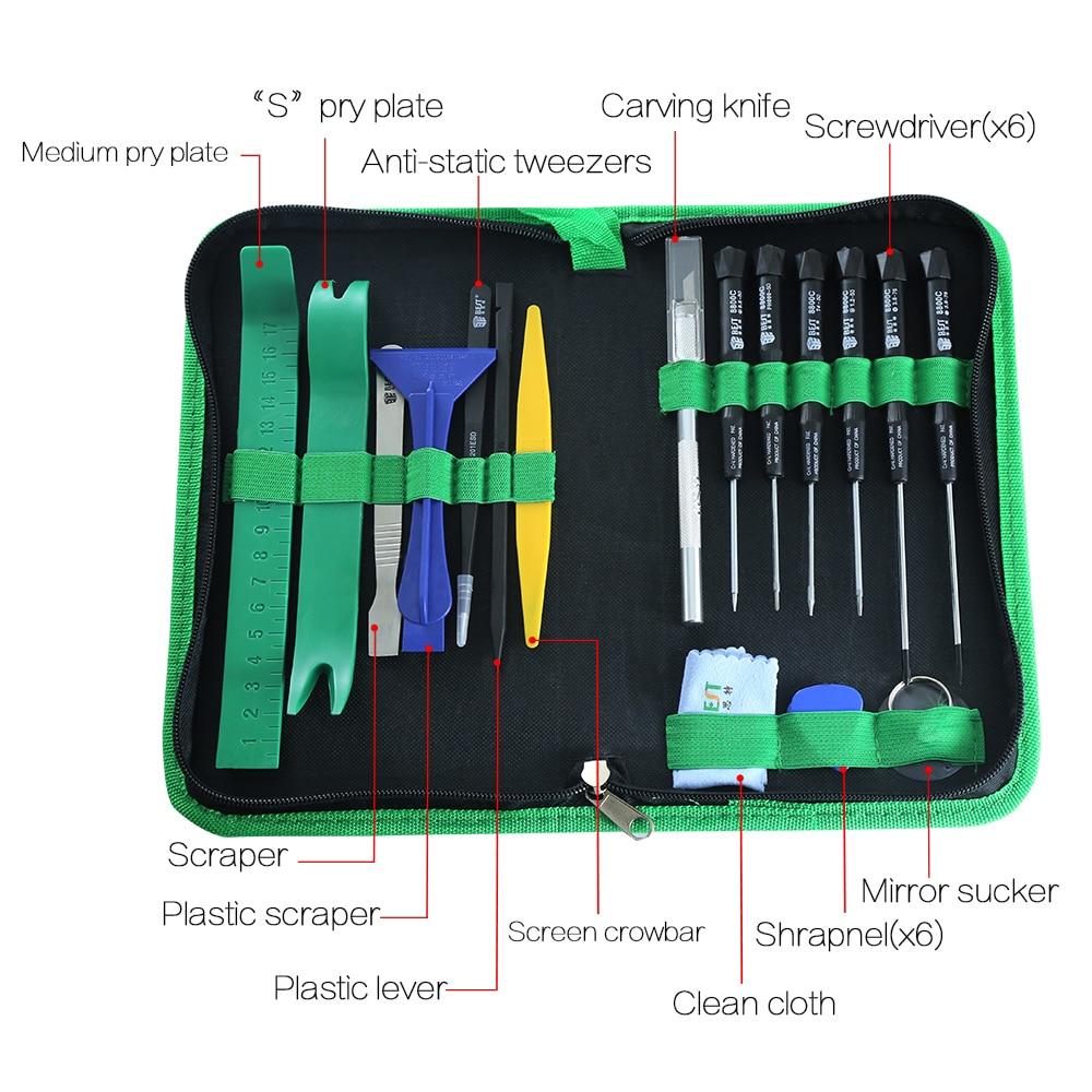 22pcs / set kit di strumenti professionali per telefoni cellulari Kit - Utensili manuali - Fotografia 2
