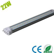 DHL free shipping 10pcs/lot  Brightness 535mm 22W 2g11 led PL tube light milky /transparent cover AC85-265V