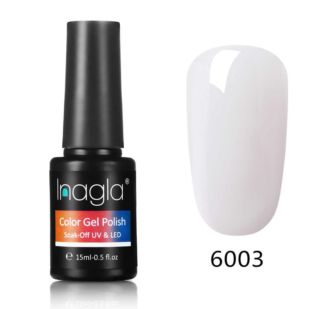 Inagla 15ml no necesita capa superior para base un solo paso Gel polaco 60 colores manicura UV Gel barniz DIY esmalte para decoración de uñas Decoración