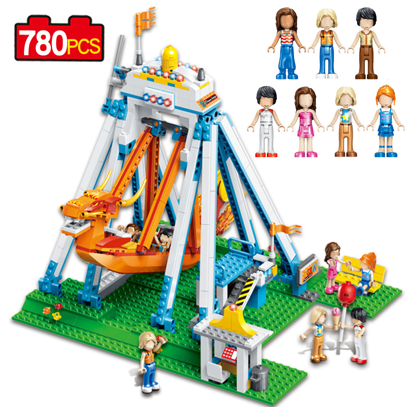 New Style 780pcs The Adventure of the Pirate Ship Seven friends compatible Legoed Building Blocks Funny Action Figure Toys Gift
