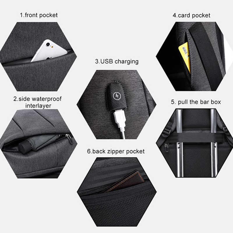 """KAKA повседневный мужской рюкзак для ноутбука 15,6 """"рюкзак для книг водостойкий USB зарядка Рюкзак мужской школьный рюкзак для подростков wo для мужчин"""