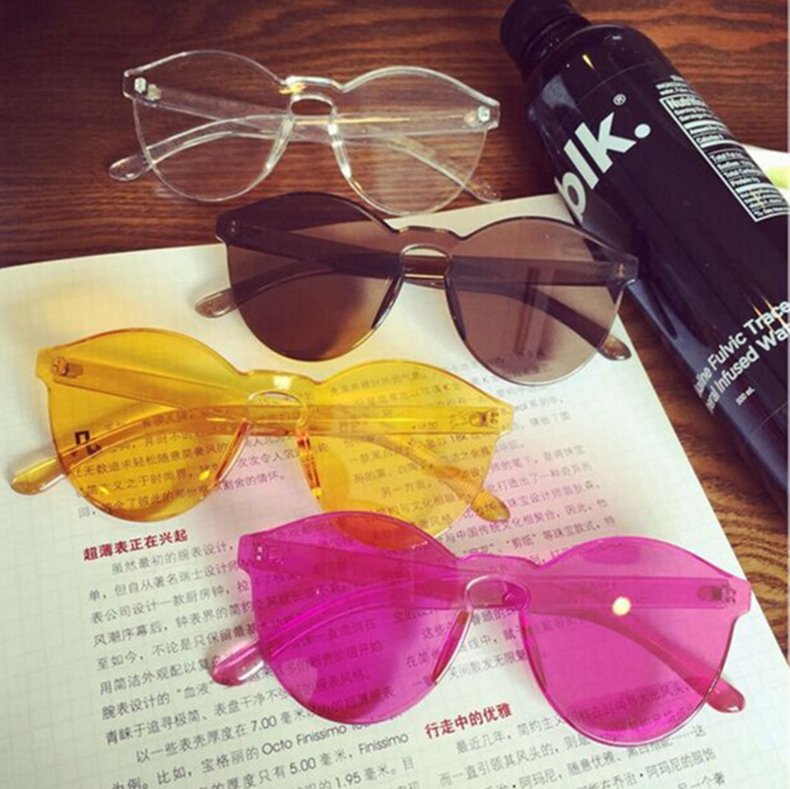 Classic Transparent Sunglasses Women Men Candy Brand Designer Stylish - Apparel Accessories - Photo 6