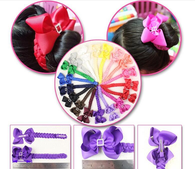 100pcs hair Bun wraps boutique Head Wrap 4 hair clips bows Hairband Headbands for girl Hairwear