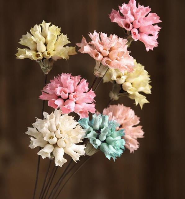 5pcs Carnation art dry flower bouquet natural simulation flowers ...