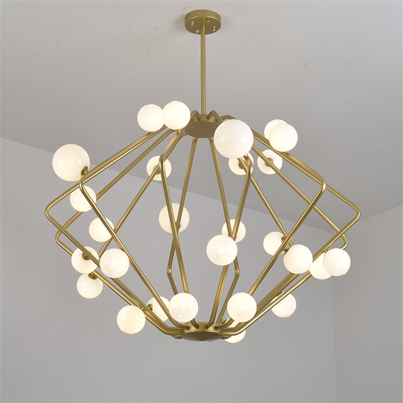 Nordic Magic Bean Pendant Lights Creative Suspension Pendant Lamp Restaurant Suspension golden lamps round Pendant lamp PA0114 Pendant Lights     - title=