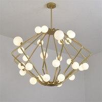 Nordic Magic Bean led Pendant Lights Creative Suspension Pendant Lamp Restaurant Suspension golden lamps round Pendant lamp G952