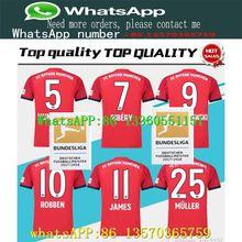 920b02f111a Thailand Bayern Munich JAMES RODRIGUEZ Soccer SHIRT 19 LEWANDOWSKI MULLER  KIMMICH 18 19 HUMMELS Football shirt