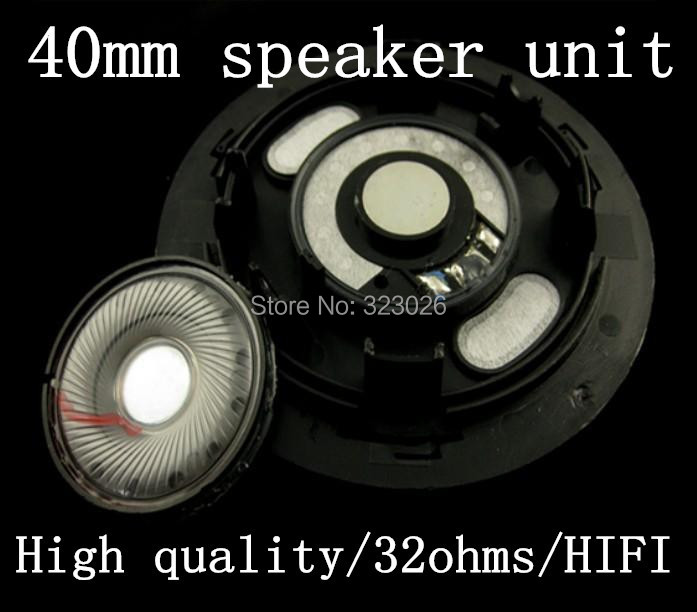 DIY 하이 엔드 헤드폰 유닛 40MM 큰 헤드폰 스피커 HIFI 발열 티타늄 멤브레인 유닛 1pair = 2pcs