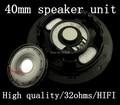 Diy de alta qualidade unidade de fone de ouvido 40 MM grande fone de ouvido speaker HIFI febre de membrana de titânio