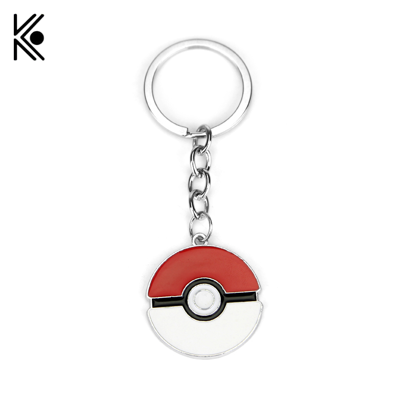 Cheaper Price Pocket Monsters Pokemon Go Pikachu with Hat Lovely Keychains Hot Anime Pokemon Pokeballs Alloy Keyring Chaveiro ...
