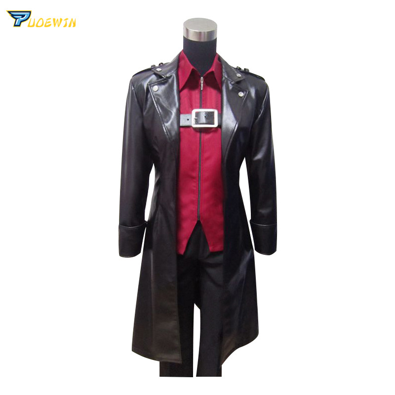 Anime Attack On Titan Eren Jaeger  Levi Mikasa  Cosplay Costume Long Leather Coat Shirt Pants Suit Original Design Custom Made