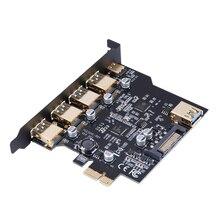 PCI-E для USB 3.1 type-c 4 Порта PCI Express Карты Расширения с 19-контактный Кабель Питания соответствовать PCI Express x1, x2, x4, x8 или x16 Разъем