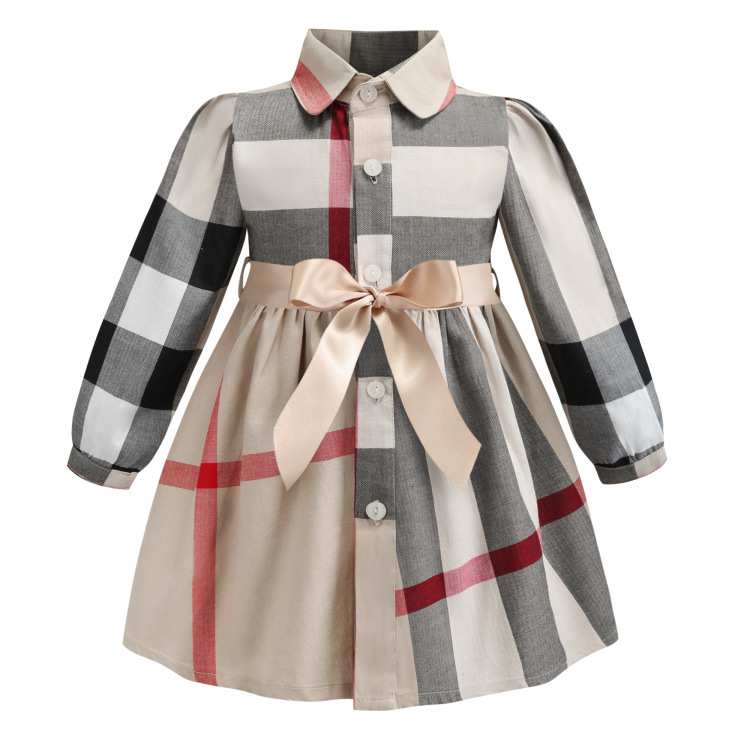 New Long Sleeve Little Girls Dresses Princess Party Costume Cotton Casual Children Clothing Spring Autumn Kids Dress For GirlsNew Long Sleeve Little Girls Dresses Princess Party Costume Cotton Casual Children Clothing Spring Autumn Kids Dress For Girls