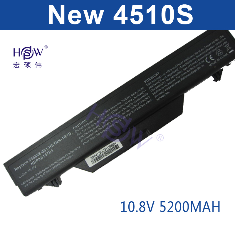 HSW New laptop battery for hp ProBook 4510s 4515s 4710s 4720s 535753-001,535808-001,HSTNN-IB89,HSTNN-1B1D,HSTNN-OB89,HSTNN-W79C7 3 12 400