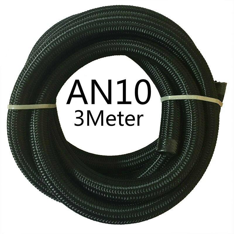 ESPEEDER 3M гоночный шланг нейлон-нержавеющая сталь шланг топливная линия Универсальный Масляный охладитель шланг Труба AN4 AN6 AN8 AN10 AN12 черный