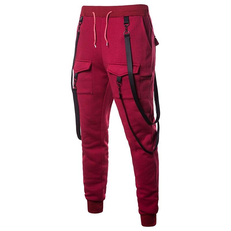 Creative Suspender Men Hip Hop Long Pants 2018 New Brand Male Trousers Mens Pants Multi-pocket Pants Harem Joggers Pants