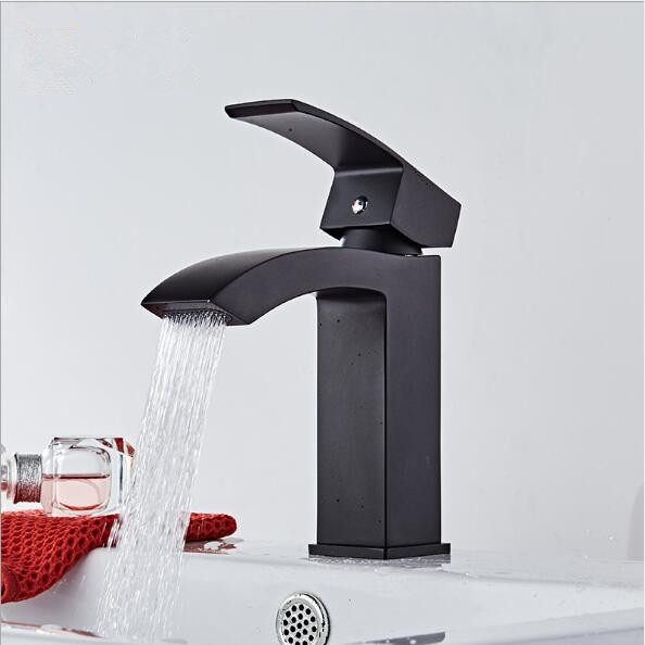Nickel/Chrome/Black Basin Faucet hot cold sink mixer tap luxury bathroom basin faucet brass material water faucet tap mixer copper toilet wash basin faucet hot and cold bathroom sink basin faucet mixer water tap single hole basin faucet chrome plated