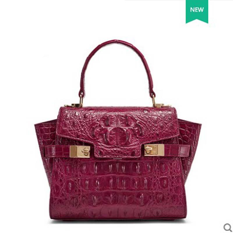 gete 2018 Spring and summer new Thai alligator skin handbag handbags leather fashion wing bag crocodile female women handbbag