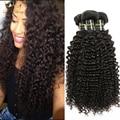 Visón 8A Pelo Virginal Rizado Brasileño Virginal Del Pelo Rizado de la Armadura paquetes Baratos Kinky Curly Hair Extensions 8-28 Pulgadas Barato Bueno pelo