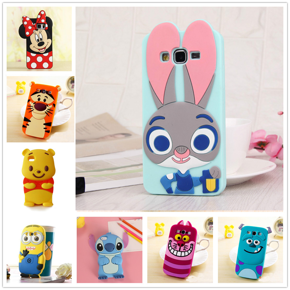 3d cartoon soft silicone case for samsung galaxy s3 duos