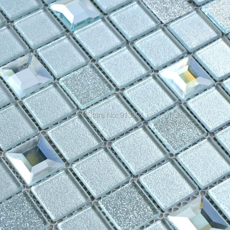glass mosaic tiles light blue mirror tile flooring cheap