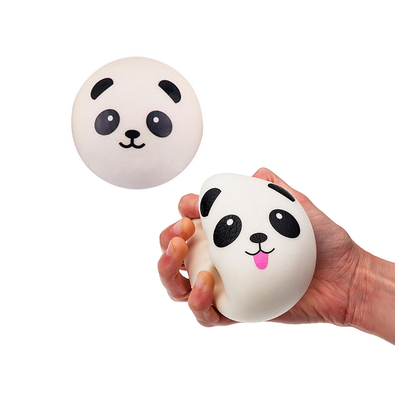 10CM Squishy Kawai Panda Bear Soft Squishy Bread Toy Key Pu Slow Rebound Quishies Anti Stress Squishi Toys For Children WY155