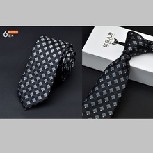 fashion solid mens slim ties blue neck skinny 6cm width