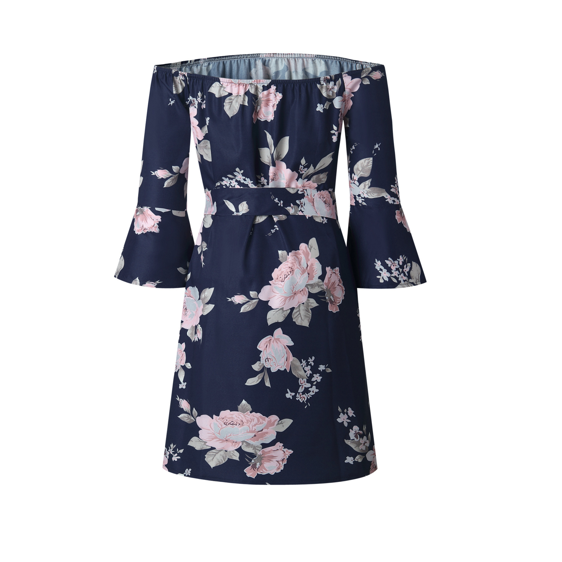 9d5f60fbc2 Aliexpress Europe Trade Explosion Source Word Shoulder Sexy Backless Dress  Vestidos Print dress Beach Dress 2019-in Dresses from Women's Clothing on  ...