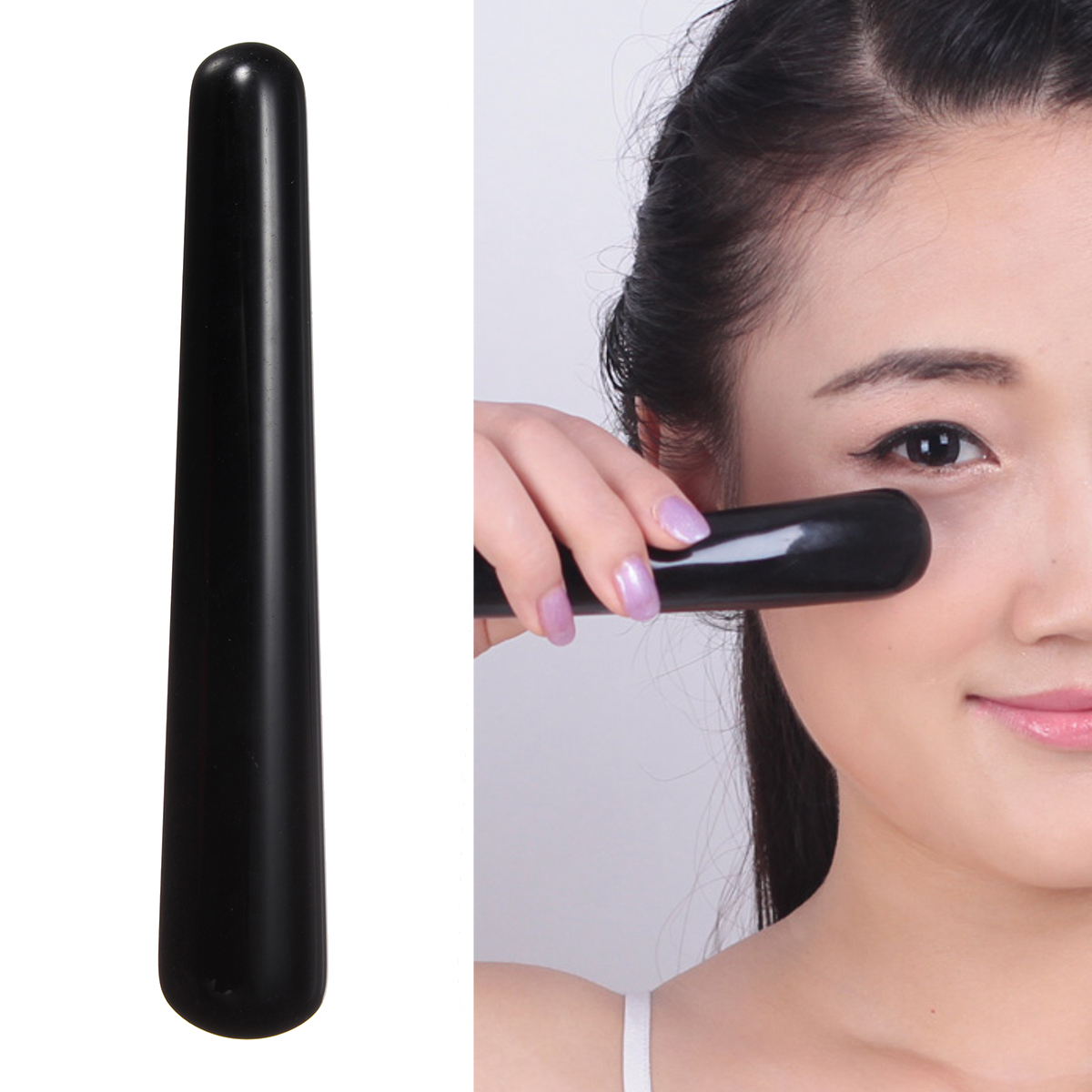 10cm Black Obsidian Yoni Massage Wand  Face Care Pleasure Stick For Women Body Massage Kegel Exercise Hearth Care