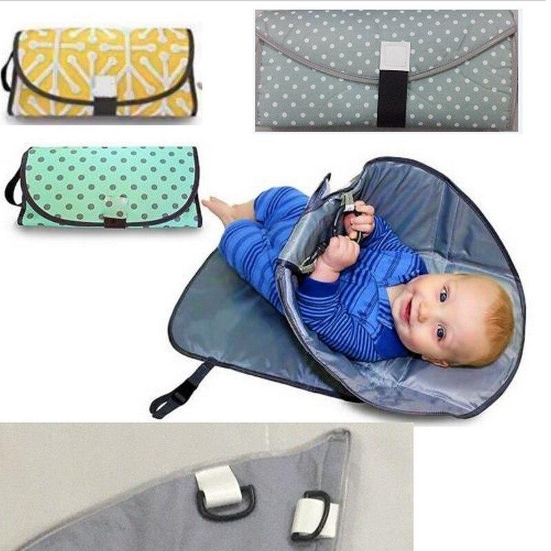Portátil manos limpias cojín cambiante 3 en 1 bebé pañal cambiando estación impermeable cubierta plegable bolsa de pañales pañal embrague