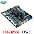 Firewall motherboard incorporado industrial ITX_D52SL 525 1.8 GHz processador Dual core com 6 * USB/2 * COM/1 * VGA/6 LAN