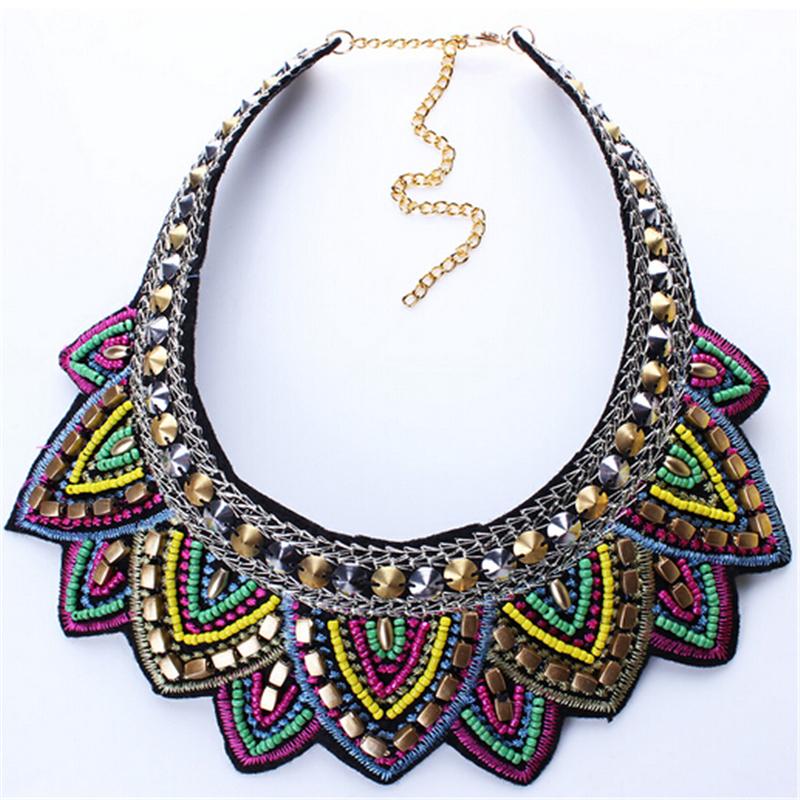 Female vintage choker pendants&necklaces big boho necklaces ethnic bohemian jewelry statement tribal Colorful bijoux femme mujer 12