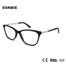 ESNBIE High Quality Acetate Glass Frame Women Eyeglasses Trends Myopia Glasses Fashionable Ladies Spectacle Frames lunettes