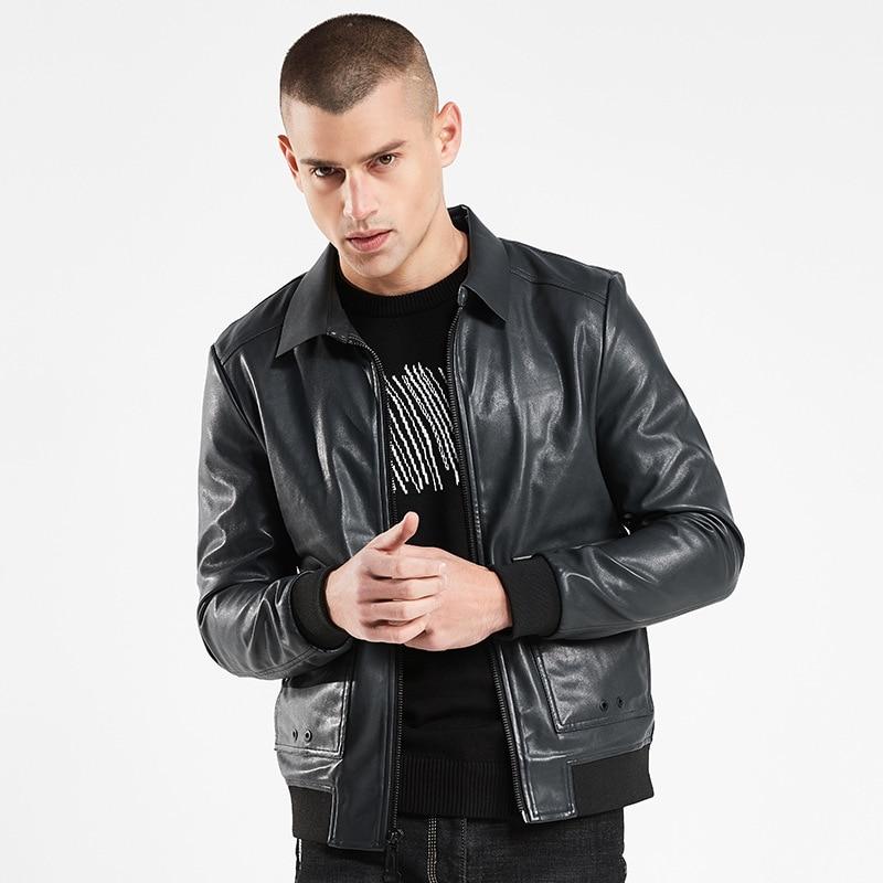 b brand quality Motorcycle coat men PU Leather Jackets Men Autumn leather jacket men Casual Lapel leather Coats men in Faux Leather Coats from Men 39 s Clothing