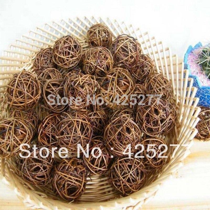 Contemplative Christmas Tree Decorative Rattan Ball,wedding And Home Ornament Craft Ball 5cm 24pcs/lot Free Shipping 014002003 Home & Garden Ball Ornaments