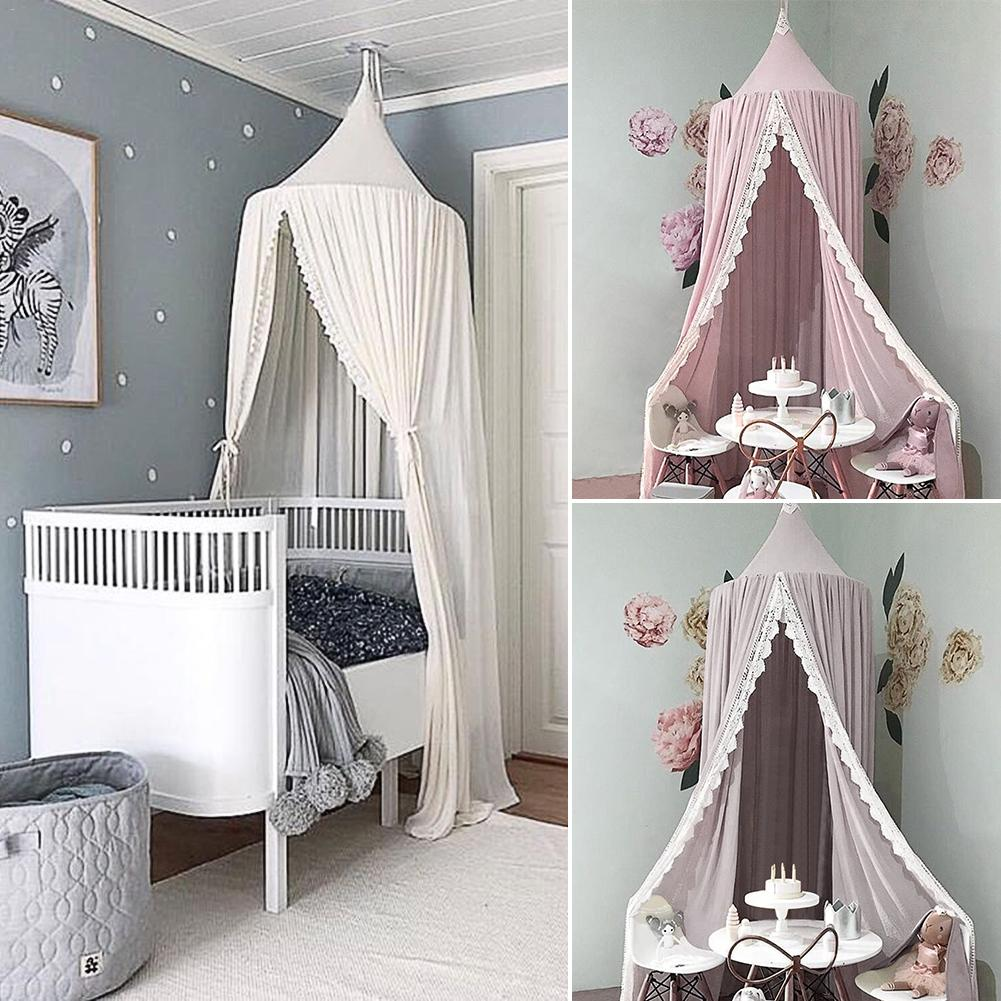 Princess Style Lace Mosquito Net Round Dome Bed Canopy