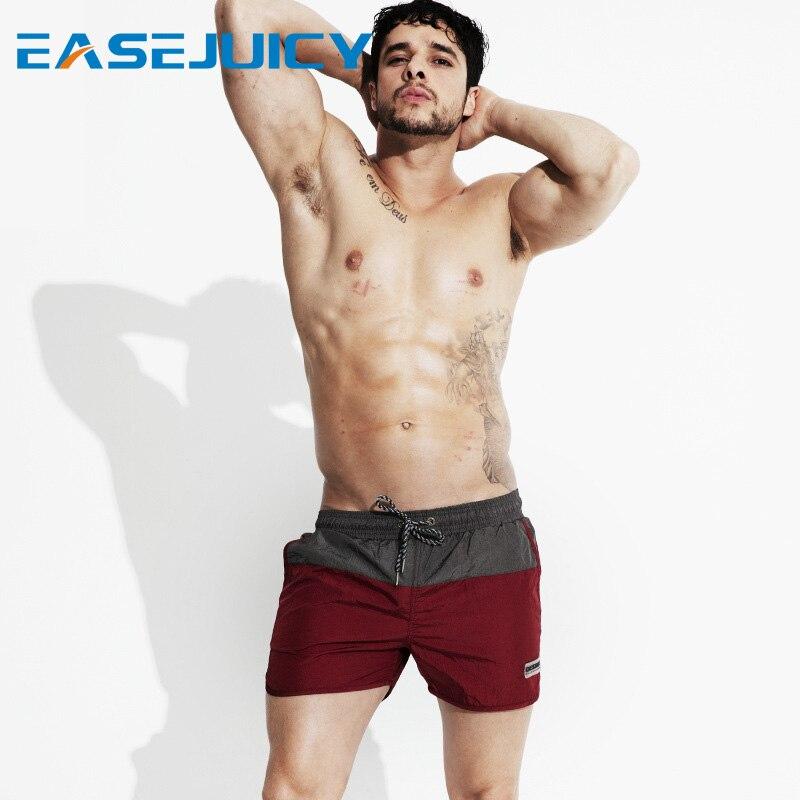New men's bathing suit board shorts joggers plavky quick dry surfboard beach shorts swimwear drawstring mesh swimsuit