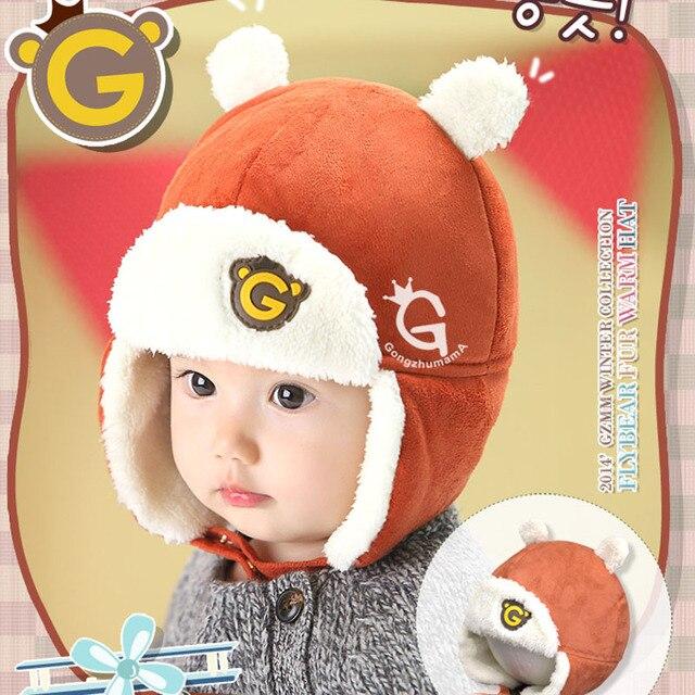 Korea Baby Boy Winter hats Velvet Warm Kids Cap winter Cute Fashion Lovely Baby  Caps for Boys 0aa8d9175ca