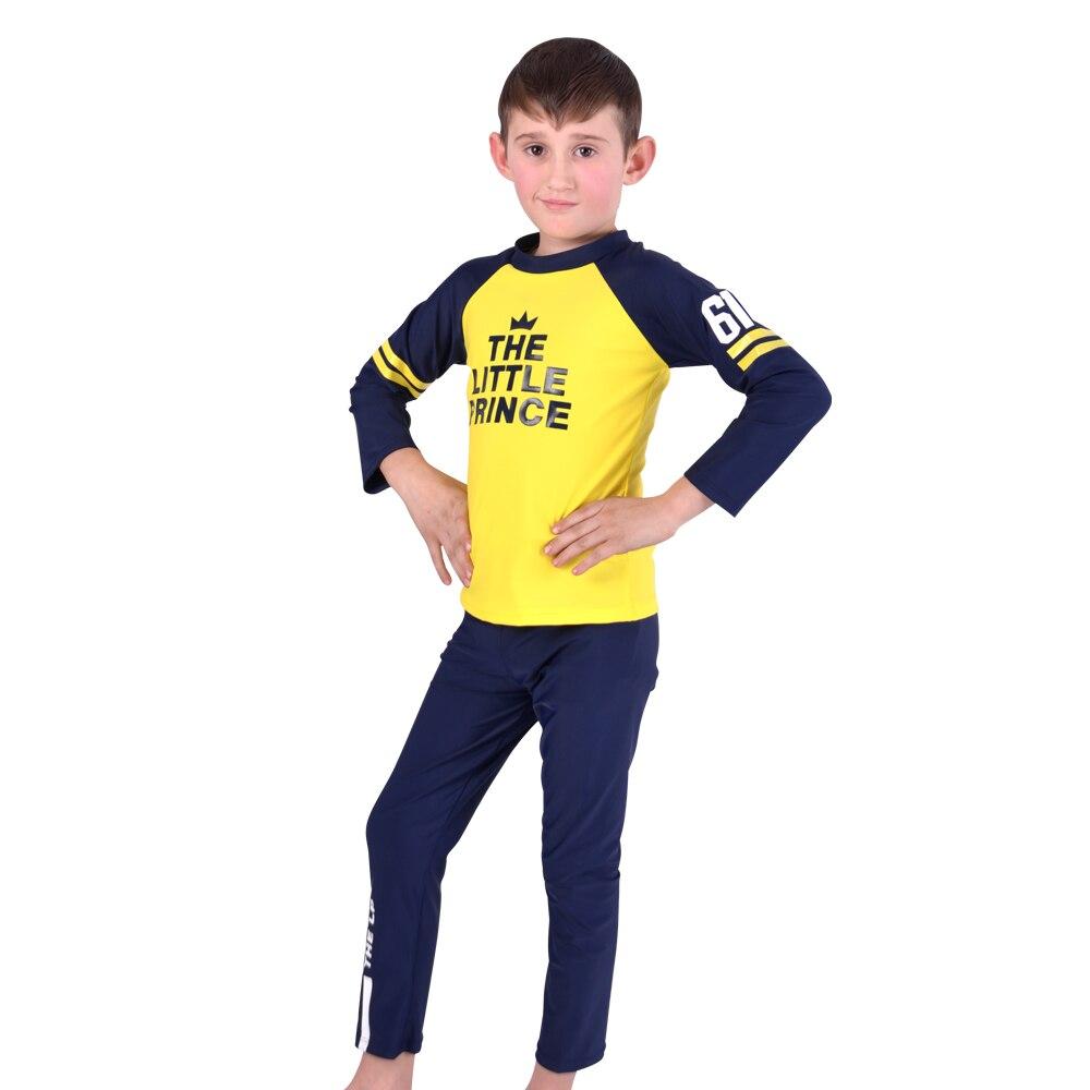 Two Pieces Suits Swimming Suit Boys Swimsuit  Long Sleeves Bathing Suits For Children Beach Wear Little Kids Swim Suit
