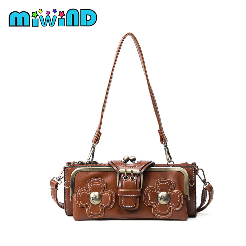 MIWIND  brand new retro women messenger bags small shoulder bag high quality PU leather tote bag small clutch handbags nbxq50 brand new fashion pu leather retro pack handbags women pochette clutch bag messenger shoulder bags women bolsa feminina li 1031