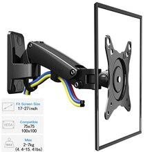 "17 27"" Gas Spring Full Motion TV Wall Mount LCD LED Monitor Wall Holder Aluminum Swivel Arm Bracket NB F120"