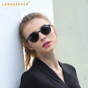 69a9206831 Gafas de sol polarizadas Unisex gafas de sol redondas de cristal de visión  nocturna para hombres gafas de moda