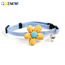 Breakaway Cat Dog Pet Collar Bell Dot Flower Knot Adjustable Buckle Necklace Puppy Supplies