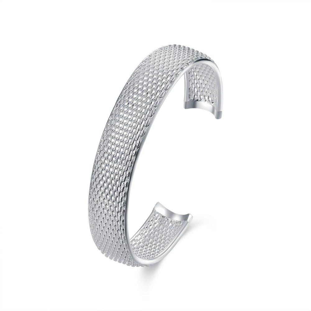 925 արծաթե ձեռնաշղթա Նորաձևության - Նուրբ զարդեր - Լուսանկար 1