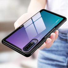 Tempered Glass Case for Huawei P30 Pro Transparent Back Cover Soft Silicone Bumper For P30Pro P30+